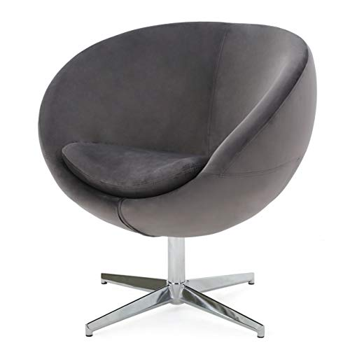 Christopher Knight Home 299534 Sphera Grey Velvet Modern Chair,