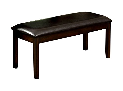 HOMES: Inside + Out ioHOMES Aylana Leatherette Bench, Brown Cherry by HOMES: Inside + Out