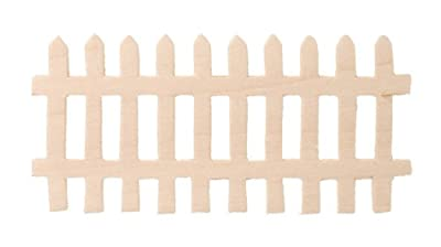 Darice 9153-92 Unpainted Wood Fence, (Pack of 12)