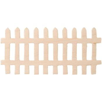 fence. Darice 9153-92 Unpainted Wood Fence, (Pack Of 12) Fence