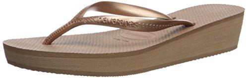 7 Flop Light 37 Havaianas Rose M High US Raised Gold Women's Sandals BR Heel Flip qIvx1ERwx7