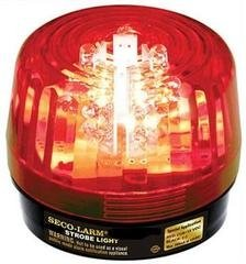 SECO-LARM SL-126Q/R Red Security Strobe Light (1) - Strobe Security Light Alarm