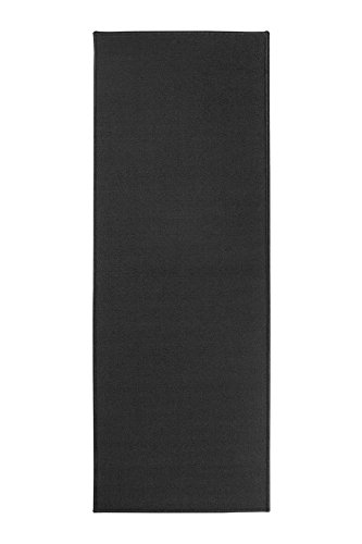 Ritz Accent Door Rug Runner with Non-Slip Latex Backing, 20-Inch by 60-Inch Kitchen & Bathroom Runner Rug, (Black Non Slip Latex Backing)