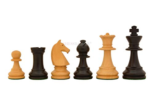 Reproduced 90s French Chavet Championship Tournament Chess Set V2.0 in Ebonized / Box Wood - 3.6
