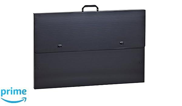 Rumold 370304 - Maletín archivador (polipropileno, A2), color negro: Amazon.es: Oficina y papelería