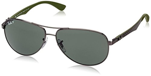 Ray Ban RB8313 004/N5 61mm Gunmetal/Gray Polarized Carbon Fibre Bundle-2 - Aviator Fiber Ban Carbon Ray Sunglasses