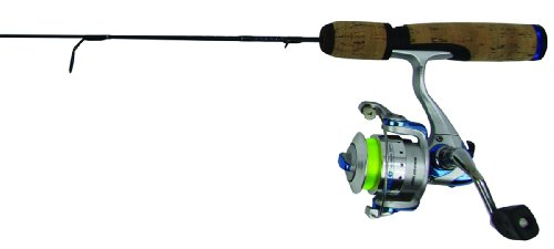 Clam 8370 True Blue Medium Action Rod and Reel Combo, 28-Inch