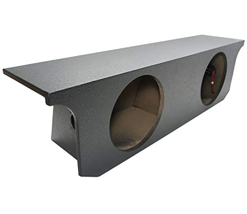 Compatible with Jeep Wrangler Unlimited 07-15 Custom Dual 12 Sub Box Enclosure Rhino Coated