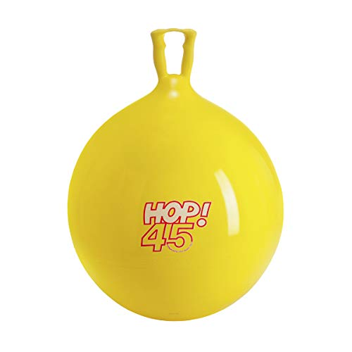 18 Inch Yellow Hop Ball - Gymnic 8045 Hop Ride on, Yellow