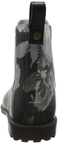Rockingham para Mujer Inkybeau Joules Lluvia de Bloom Zapatillas negro Black 1v4qdqOZW