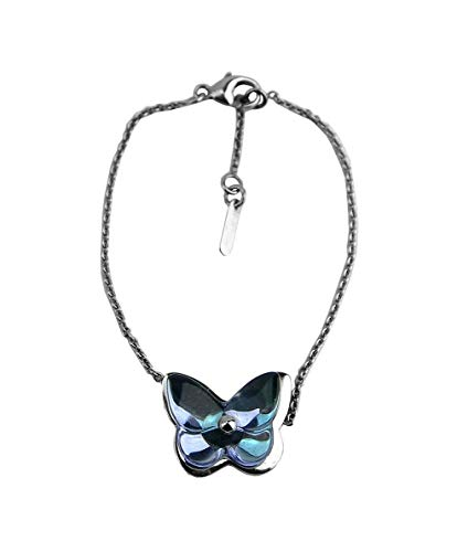 Baccarat Jewelry Papillon ST. Silver Iridescent Parma Violet Bracelet