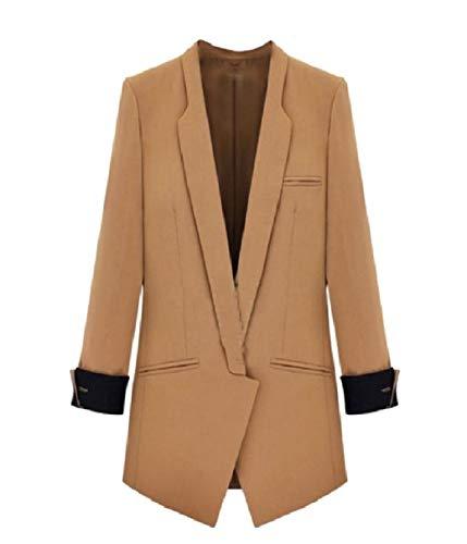 Coolred-Women Camel Wool Blazer 2019