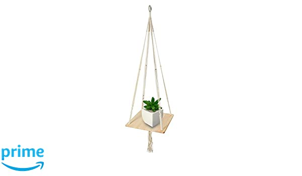 Amazon Com Macrame Shelf Planter Hanger For Indoor Plants With