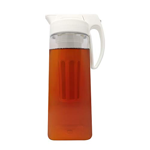 FusePour Pitcher with Iced-Tea & Fruit Infuser - Makes Hot/Cold Tea, Juice & Other Drinks - Large 2.2 Quarts ()