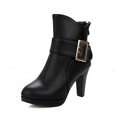 RTRY Zapatos De Mujer De Piel Sintética Pu Novedad Moda Otoño Invierno Confort Botas Botas Chunky Talón Puntera Redonda Botines/Botines Hebilla Parte &Amp; US9 / EU40 / UK7 / CN41