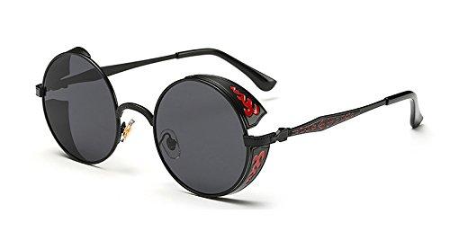 Sol Sol la de Gafas Gafas Oro black Verde Ronda gray de Volver de Las Mujer Vintage de Sunglasses TL w0Oqgg