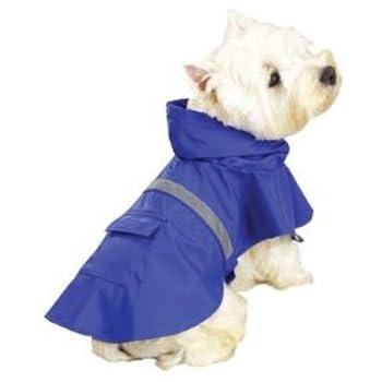 Amazon.com : Guardian Gear Vinyl Dog Rain Jacket with Reflective ...
