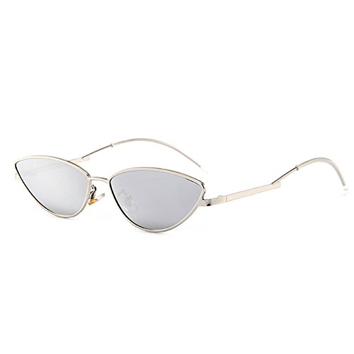 Women Sunglasses Sun Personality Frame Street Lens Men Traveling Fashion Protection Cateye Silver for Glasses Shopping UV400 Holiday mercury qqxwgHrSWE