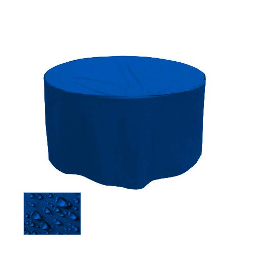 Holi Europe Premium Gartentisch Abdeckung Gartenmöbel Schutzhülle RUND ø 130cm x H 70cm Blau