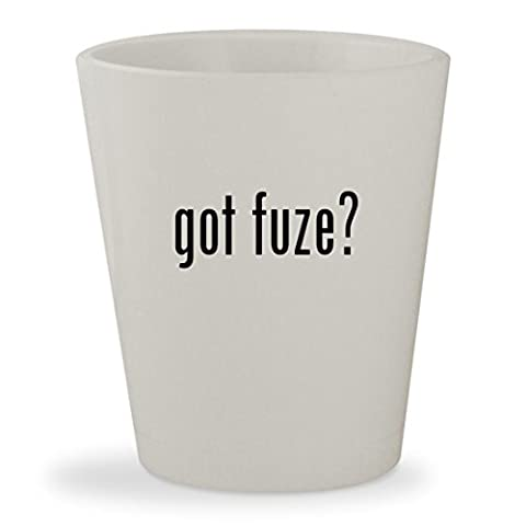 got fuze? - White Ceramic 1.5oz Shot Glass (Fuze Peach Mango)