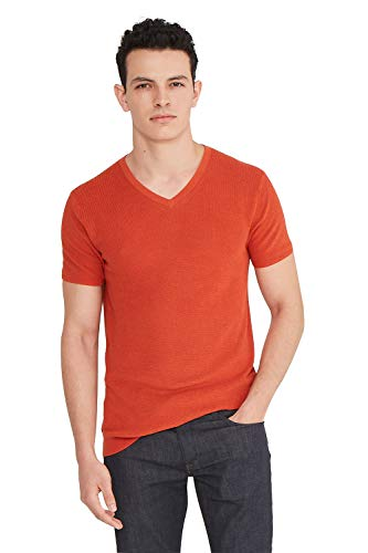 State Cashmere Men's Casual V-Neck Short Sleeve T-Shirt