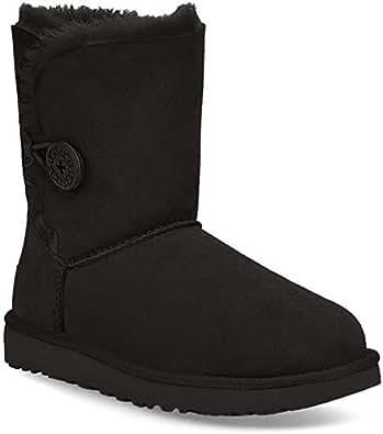 UGG Women's Bailey Button II Winter Boot, Black, 5 B US