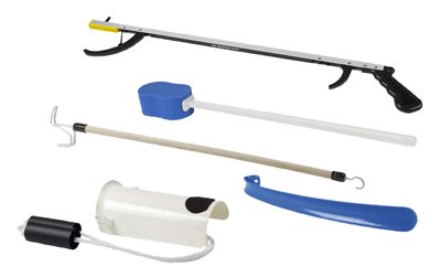 FAB860075 - Fabrication Enterprises, Inc. Hip Kit #3: 32 reacher, straight handle sponge, deluxe sock aid, shoehorn, dressing stick from Fabrication Enterprises, Inc.