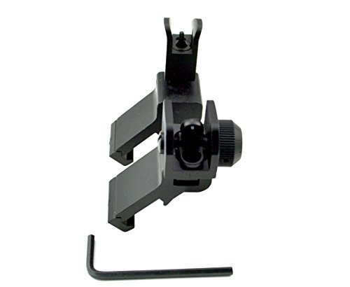 Sniper front and rear backup iron sight set, canted, 45 degree, black