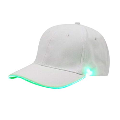 Yezijin LED Lighted up Hat Glow Club Party Baseball Hip-Hop Adjustable Sports Cap 2019 New Green (Best Headphones For Hip Hop 2019)