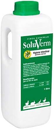 FINCA CASAREJO SoluVerm - Desparasita Tus gallinas, faisanes y Conejos contra parásitos internos Tipo Vermes. 250ml y 1Litro (1)
