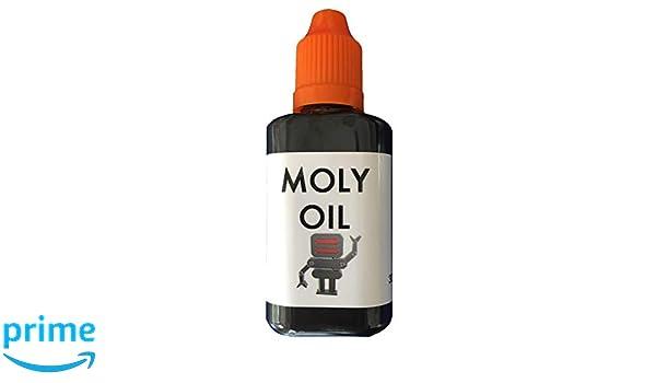 MOLY OIL Molybdenum - Aceite de silicona reforzado (30 ml) Lubricante resistente para robots, impresoras 3D y otras máquinas