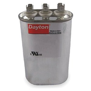 Dayton Oval Motor Dual Run Capacitor, 35/4 Microfarad Rating, 370VAC Voltage - 6FLN6
