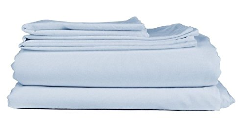 Mayfair Linen Hotel Collection 100% Egyptian Cotton Sateen- Genuine 800TC Sheet Set Queen - Sky/Light Blue (Egyptian Cotton Pillow)