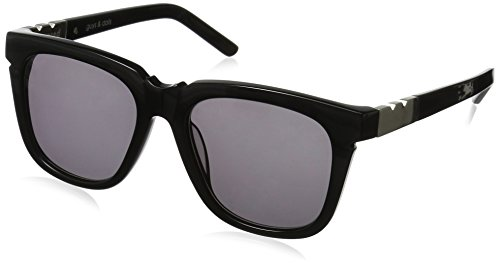 Pared Eyewear Guys and Dolls Solid Grey Lenses Round Sunglasses, Black, 21 - Sunglasses Pared