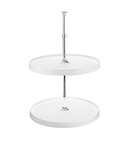 Full Circle RAS Polymer 2 Shelf Dependently Rotating Corner Lazy Susans - 6012-20-11-52 - 20