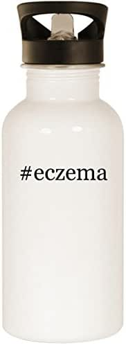 #eczema - Stainless Steel Hashtag 20oz Road Ready Water Bottle, White