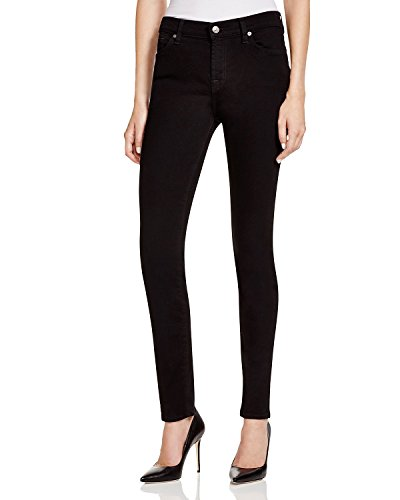 7 For All Mankind Women's The Skinny Jeans In Washed Overdye Black (26 30.5, Washed Overdye Black) by 7 For All Mankind