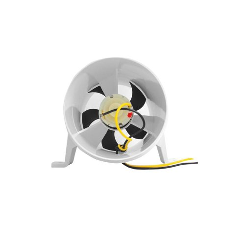 (Attwood Turbo 4000 Series II Water-Resistant In-Line Blower 12V White)