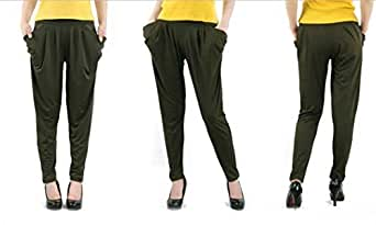 Green Harem Trousers Pant For Women