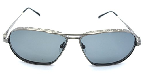 Matsuda M3028 Aviator Style Polarized Sunglasses Antique Silver