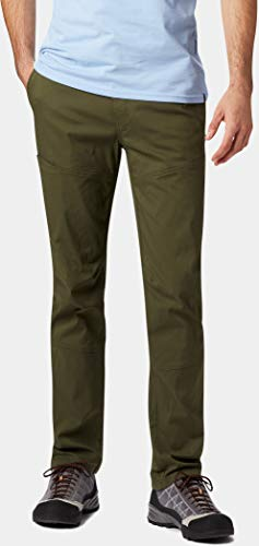 Mountain Hardwear Mens AP Pant for Hiking, Climbing, Commuting and Office - Dark Army - 34W x 32L