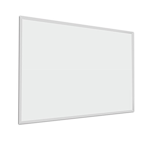 (Fab Glass and Mirror Rectangle Frameless Wall Mirror, 30