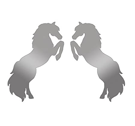 Pair of large horse stickers decals for trailer horsebox by sca art