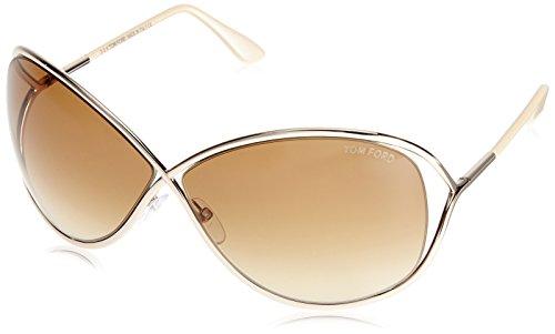 Tom Ford Women's FT0130-GB Designer Sunglasses, Shiny Rose - Ford Miranda Tom