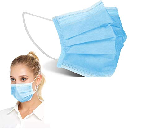 1above 50pk Disposable 3 Layer Face Masks High Filterability Sutaible For Sensitive Skin