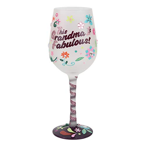 "Top Shelf (TS-5297A) ""This Grandma is Fabulous"" Wine Glass – Hand Painted Gift for ()"