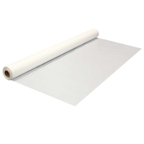 White Plastic Banquet Roll (Party Essentials 1403WH Heavy Duty Banquet Roll Plastic Tablecover, 300' Length x 40