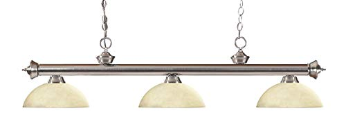 (Z-Lite 200-3BN-DGM14 Light Pendant, Brushed Nickel)