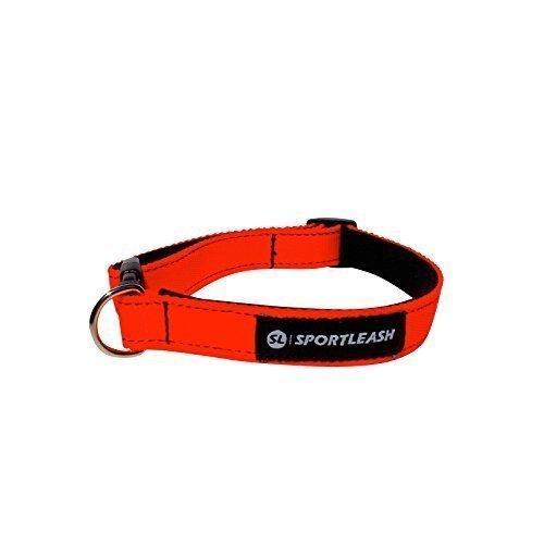 Neoprene-Lined Dog Collar (SportCollar) - Neon Orange with Black Thread