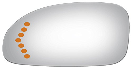 2003-2005 BUICK LESABRE Driver Side Power Replacement Mirror Glass with Lasered Holes to use with Factory Turn Signal Indicator (Buick Lesabre Mirror Glass)